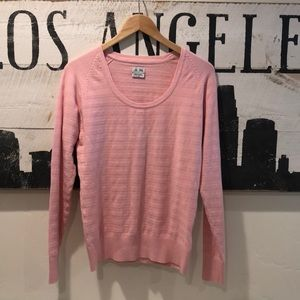 Beautiful Pink Ribbed Adidas Golf/Tennis Sweater L